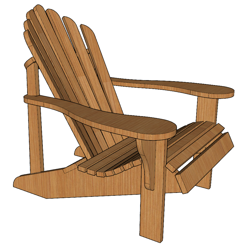 Adirondack Chair Plans Free Templates: Paul Jackman's Adirondack Chair Professional Templates